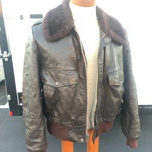 The Leather Shop, bomber style leather jacket